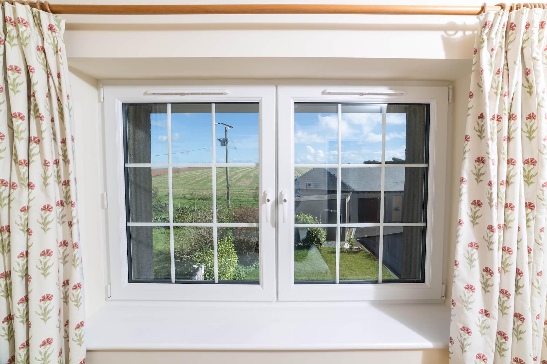 White uPVC windows